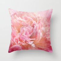 peony Throw Pillows featuring Peony by KunstFabrik_StaticMovement Manu Jobst