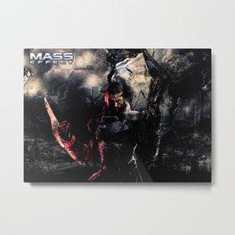 Mass effect Metal Print