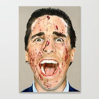 american psycho Canvas Prints featuring American Psycho by JackyAttacky