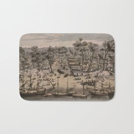 Vintage Pictorial Map of Sacramento (1850) Bath Mat