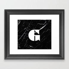 Black Marble - Alphabet G Framed Art Print