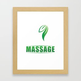 Live Love Relax Massage Therapy Therapist Massaging Reflexology Gift Framed Art Print