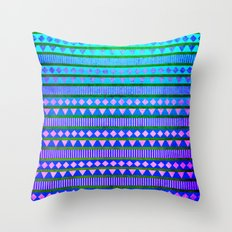 Aztec Night Throw Pillow