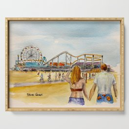 Santa Monica Pier Ferriswheel Serving Tray