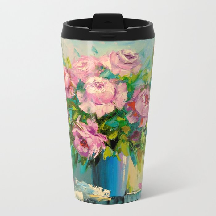A bouquet of roses Metal Travel Mug