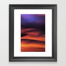 Sunset in the Maldives Framed Art Print