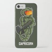 master chief iPhone & iPod Cases featuring CAPRICORN MASTER CHIEF by Mademoiselle Zim