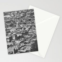 Cityview Medina Fés, Morocco. Black and White Fine Art Travel Print. Wall Art. Stationery Cards