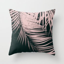 Palm Leaves Summer Night Vibes #2 #tropical #decor #art #society6 Throw Pillow