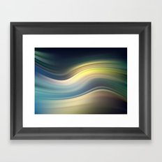 Moonlight Sonata. Abstract modern wavy flowing silk, satin, smooth Framed Art Print