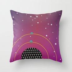 Rock my World Universe Throw Pillow