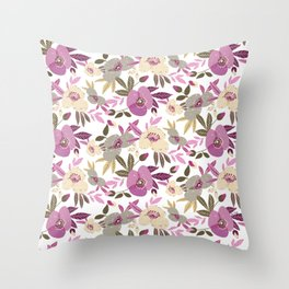 Blooming spring flowers Throw Pillow