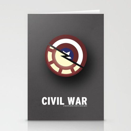 Minimalist Civil War Stationery Cards
