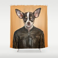chihuahua Shower Curtains featuring Chihuahua  by Life on White Creative