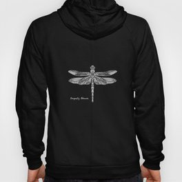 White Dragonfly Odonata Hoody