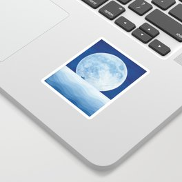Full moon & paper boat Sticker