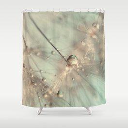 dandelion mint Shower Curtain