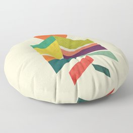 Lingering Mountains Floor Pillow