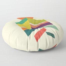 Lingering Mountains Floor Pillow