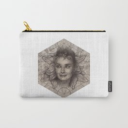 Audrey Hepburn dot work portrait Carry-All Pouch