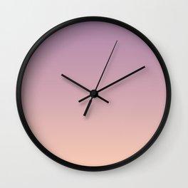 Sunset Gradient Purple Pink Peach Coral Wall Clock