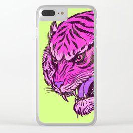 Pink Tiger Clear iPhone Case