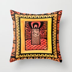 Don't Tangle with a Rectangle! Throw Pillow