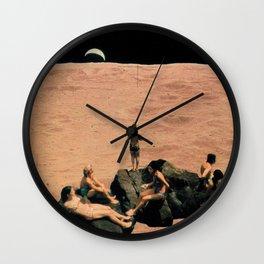 moon bath II Wall Clock