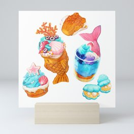 Pastel Shore - MerMay - Dessert Mini Art Print
