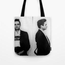 Johnny Cash Mug Shot Music lover Fan mugshot Tote Bag