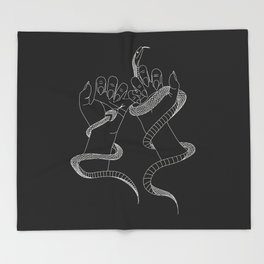 You and I - Snake Illustration Throw Blanket