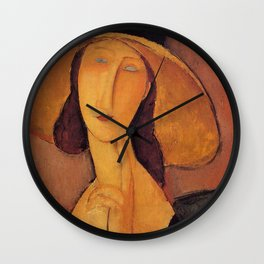 Amedeo Modigliani Jean Hebuterne with large hat 1918 Wall Clock