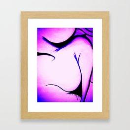 Caught in My Lip Gloss Framed Art Print
