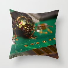 I found a bug Throw Pillow