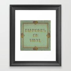 Diamonds on Vinyl Framed Art Print