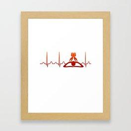 Massage Therapist Heartbeat Framed Art Print