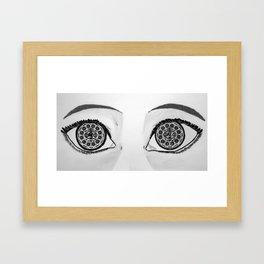 Oreo Eyes Framed Art Print