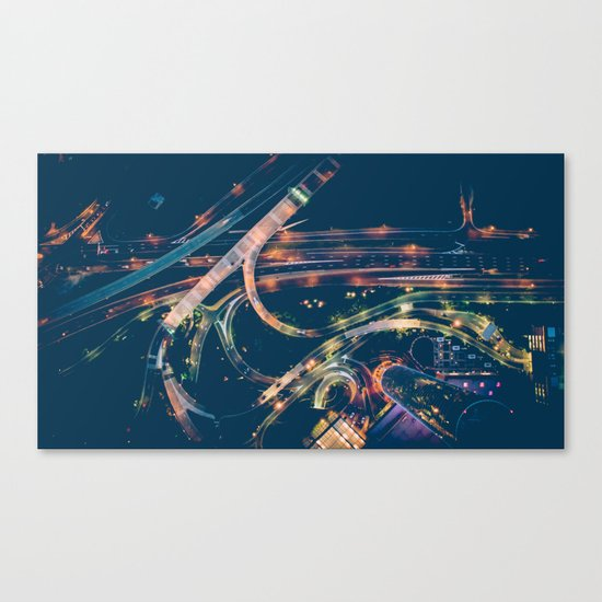 City in the sky fantastic Canvas Print