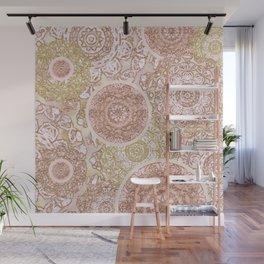 Rosey Gold Mandalas Wall Mural