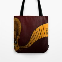 chewbacca Tote Bags featuring Chewbacca by alexviveros.net