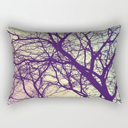 A Network of Tree Branches Rectangular Pillow