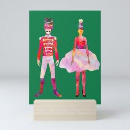 Nutcracker Ballet - Candy Cane Green Mini Art Print