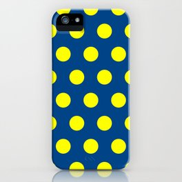Maize and Blue polka dots iPhone Case