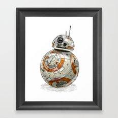 BB8 Framed Art Print