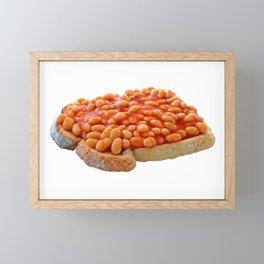 Beans on Toast Framed Mini Art Print