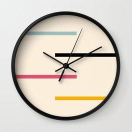 Abstract Minimal Retro Stripes Acro Wall Clock