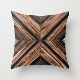 Urban Tribal Pattern No.3 - Wood Throw Pillow