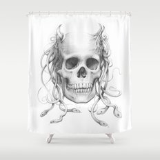 Medusa Skull Shower Curtain