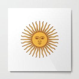Sun Beam Face Metal Print