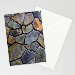 Mosaic Stone Wall Stationery Cards